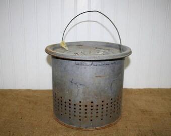 Vintage Minnow Bucket - item #2521