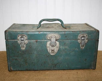 Vintage Metal Tool Box - item #2528