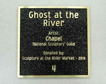 Custom Cast Bronze Dedication or Memorial Plaque