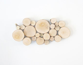 natural white birch forest topography wall sculpture - wood art, wood slices, wood wall decor, modern rustic art, wall hanging