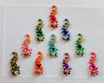 Bindi Indian Bollywood Belly Dance Sticker Body Art Floral Flower
