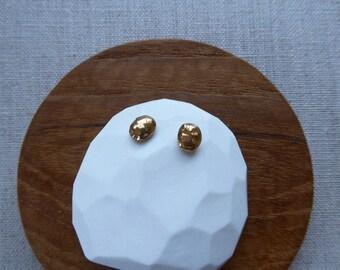 Koban Gold Nugget Stud Earrings