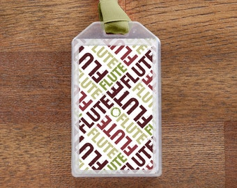 Flute Instrument ID Tag or Luggage Tag for Musicians