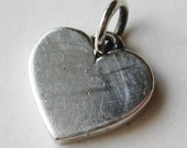 Vintage James Avery Sterling Silver Engraveable Heart Necklace Pendant Charm