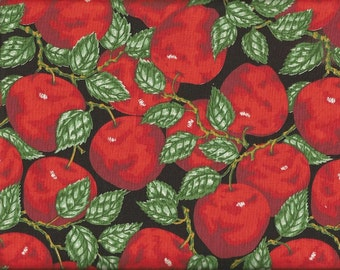 Vintage Apple Print Fabric (1 yard(