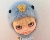 Little Blue Bird Amie-Bird Helmet for Blythe