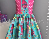 Trolls Dress - Trolls Birthday Outfit - Cute Birthday Dress - Trolls Movie Outfit - Trolls Birthday Party