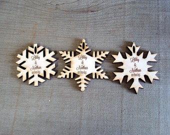 25 Snowflake Wedding Favors