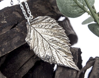 Leaf Necklace Fine Silver
