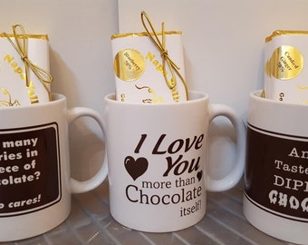 Chocolate Bars, Candy Bars, Dark Chocolate, Bacon Chocolate, Coffee Mug, Chocolate, Hostess Gift, Gift for Her, Gift for Him, Mother's Day