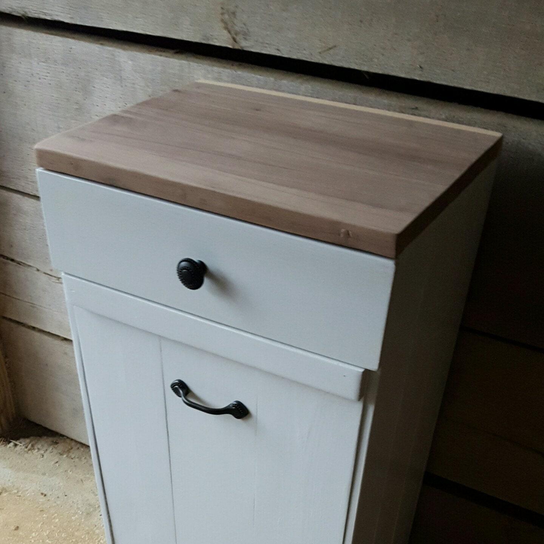 Kitchen Impressive Tilt Out Kitchen Trash Can Cabinet: Tilt Out Trash Bin Cutting Board Trash Can Cabinet Kitchen