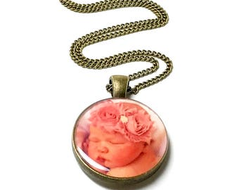 CUSTOM Photo Necklace. Create Your Own. Photo Jewelry. Photography Jewellery. Photo Pendant. Personalized Photo. Remembrance. In Memory.