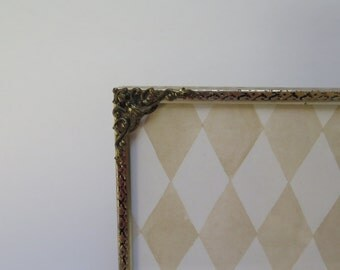 Ornate Filigree Brass 5 x 7  Picture Frame with Easel back