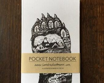 Notebook, Jotter, Mini Sketchbook | Bear Paw