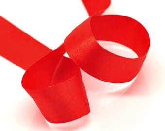 "SALE - 1 Roll - 25yds - 1"" - 25mm - 1 inch - Wide Red Satin Ribbon - Weddings, Floral Arrangements, Favors, Decor!"