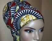 African Print head wrap, Extra Long Head Scarf Fabric, 88 inch by 17 inch/ DIY Head Wrap fabric/ African head wraps/ Rasta Head Wraps