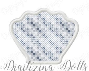 Seashell Applique Machine Embroidery Design 3x3 4x4 5x7 6x10 Sea Shell Scallop INSTANT DOWNLOAD