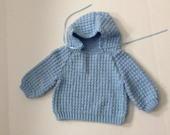 Sweater with hood size 6-12 month