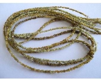 55% ON SALE Yellow Rough Diamonds - Natural Raw Uncut Diamond Beads - 2mm - 4 Inch Strand