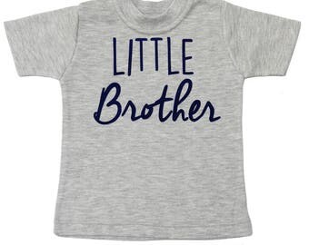 Little Brother Shirt - Boy Baby Shower Gift - Big Brother Shirt - Big Bro Little Bro Shirts