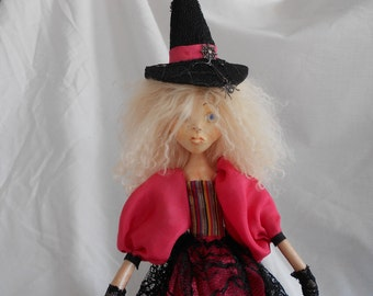 OOAK Faerie Witch Art Doll - Witchling's Spell