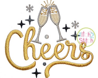 Cheers machine embroidery design, INSTANT DOWNLOAD now available