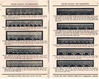 Crochet Edges Vintage Publication by Myart, Book No. 1