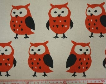 """Big big owls - 1 yard - cotton linen - 3 colors - fabric ,forest, cute, Check out with code """"5YEAR"""" to save 20% off"""