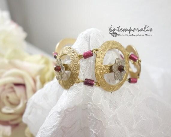 White bronze and gold bronze bracelet, OOAK, SABRBR18