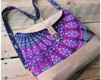 Ready to ship - clearance - mandala cork backpack