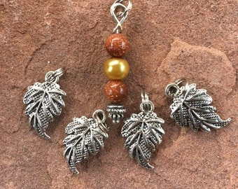 Fall Leaf Stitch Markers for Knitting
