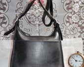 70% OFF MOVING SALE Authentic Vintage Coach ---Everyday Coach---Black Leather Purse Big Nickle Buckles