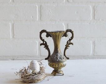 Vintage Brass, Vintage Vase, Vintage Brass Vase, Small Gold Vase, Bud Vase, Gold Bud Vase, Ornate Vase, Trophy Vase, italian vase,