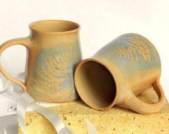 Big Stoneware Mug Set, Handmade, Large Coffee Mug Set, Blue,Wheel Thrown Pottery,Microwavable,Kitchen Decor,Cottage,Couples Wedding Gift Set