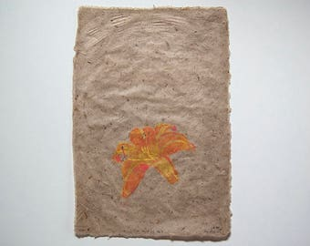 All About Lily No. 4 – Pulp Painting on Handmade Daylily / Abaca Paper (2016), Item No. 226.04