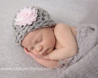 Newborn Girl Hat / Baby Girl Beanie / Baby Shower Gift Girl / Crochet Newborn Hat / Infant Girl Hat / Baby Girl Hat / Crochet Baby Hat