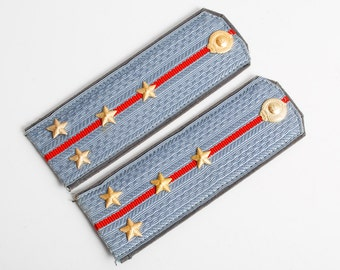Vintage police officer uniform  boards used in Soviet Union,  strap, rank of captain police USSR.