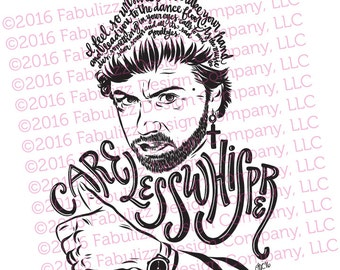 """Shop """"george michael"""" in Drawing & Illustration"""