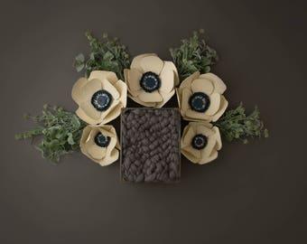 """Digital Backdrop- """"Queen of the Wildflowers""""- Newborn Prop"""