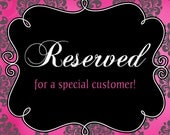 MOTHERS DAY SALE Reserved Listing for Dana