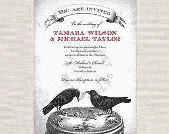 We are tying the knot - You-Print Digital Goth Wedding Invitation