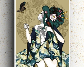 A2 - Himitsu o Oshieru (Tell me a secret) - Original Art (59.4 cm x 42 cm) Japanese Manga/Anime Print