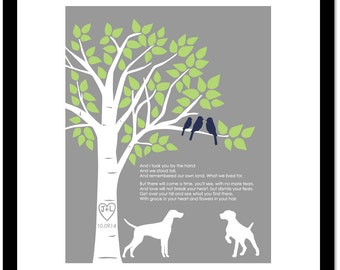 Family Tree With Pets, First Dance Lyrics, Anniversary Gift for Wife, Dog Lover Gift, Family Tree Wall Art, Wedding Song Lyrics, 8x10
