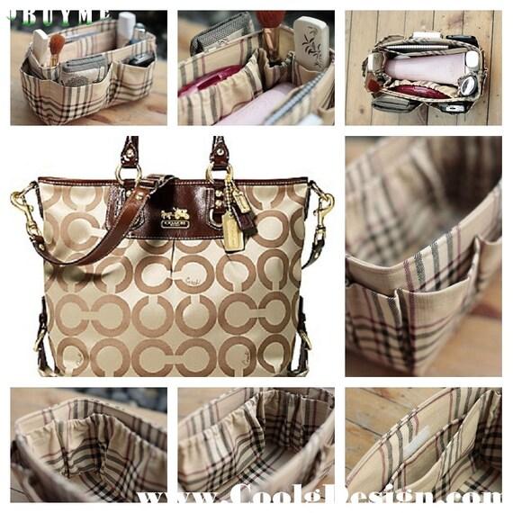 Purse organizer insert bag and purse organizer khaki by - Organizer purses and handbags ...