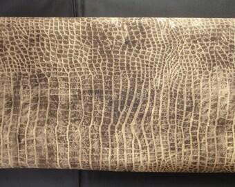 Tim Holtz New Fabric - Eclectic Elements Bridge Designs - Worn Croc - PWTH020 Brown