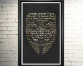 Guy Fawkes Word Art Typography Print
