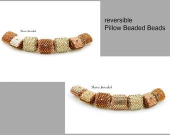 Sale - Reduced 50% - set of 7 Beaded Beads by SharriMoroshok