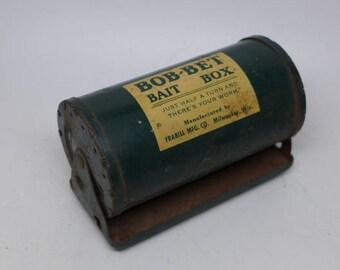 Bob-Bet  Bait Box -  Vintage Bait Box -  Vintage Fishing