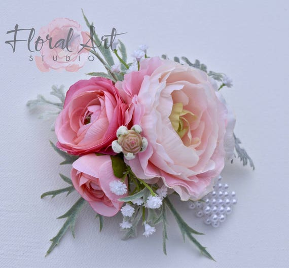 Wedding Flowers Corsage Ideas: Items Similar To Wedding Corsage, Prom Corsage, Pink