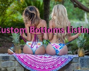 Custom fitted Bikini bottoms- scrunch- Brazilian- full coverage